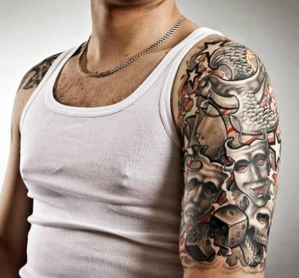 Татуировки на бицепсе для мужчин