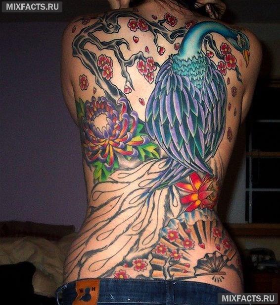 большие татуировки для девушек
