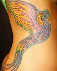 татуировка жар птицы
