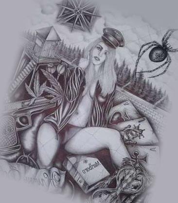 Эскиз татуировки бардак