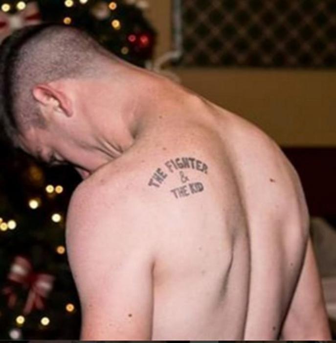 Боец и ребенок татуировка