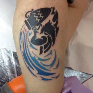 Татуировки знак зодиака Водолей