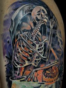 татуировка скелет значение фото
