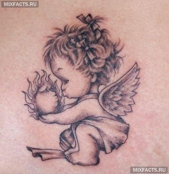 татуировка ангела для девушек