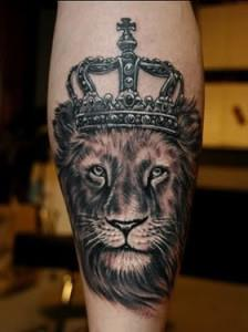 тату лев на руке (2)