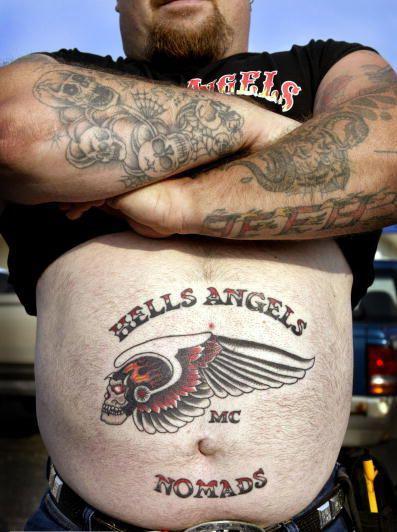 Байкерская татуировка Ангелов Ада