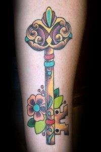 ключи и замки татуировки (6)