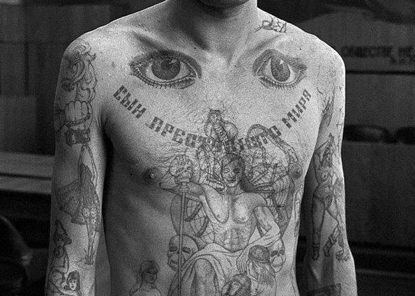 Блатные тату на теле