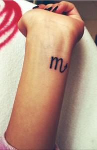 Татуировки знак зодиака Скорпион