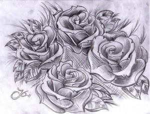 тату розы эскиз (2)