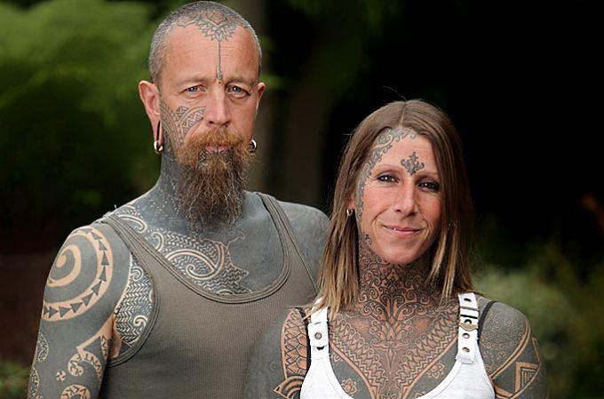 jacqui moore 1 41 летняя мать двоих детей отпраздновала свой развод с неверным мужем, забив 85% своего тела татуировками