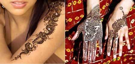 Качественное тату с индийскими мотивами