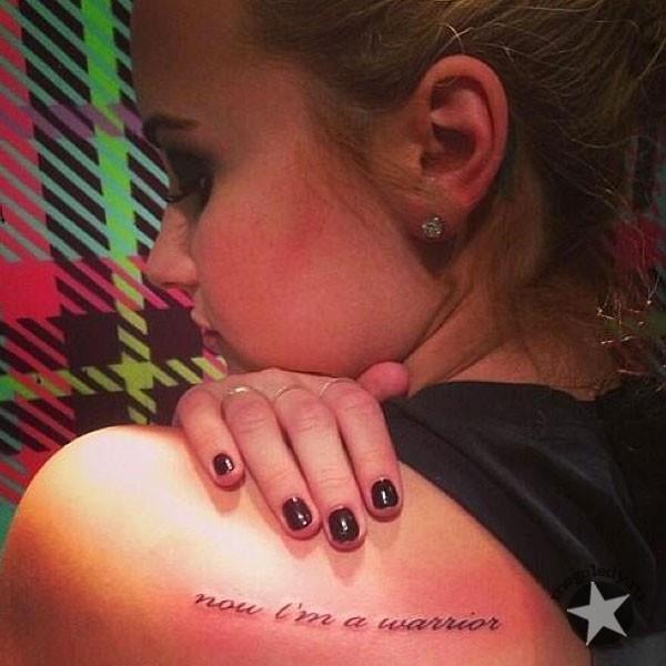 татуировка деми ловато: now im a warrior