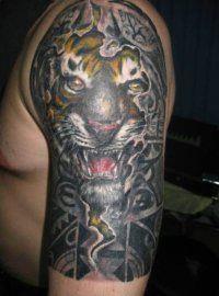 Эскиз тату Тигр для мужчин на предплечье