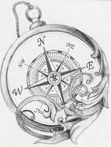 тату компас (5)