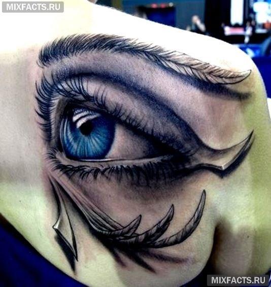 значение тату глаза на плече