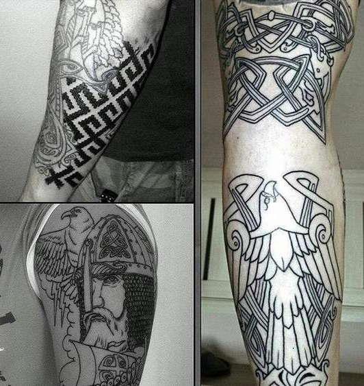 Славянская татуировка викинга и узоров