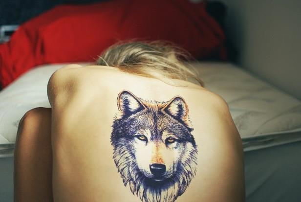 Значение татуировки волк у девушек