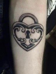 ключи и замки татуировки (8)