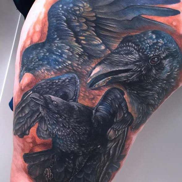 Татуировка трех воронов
