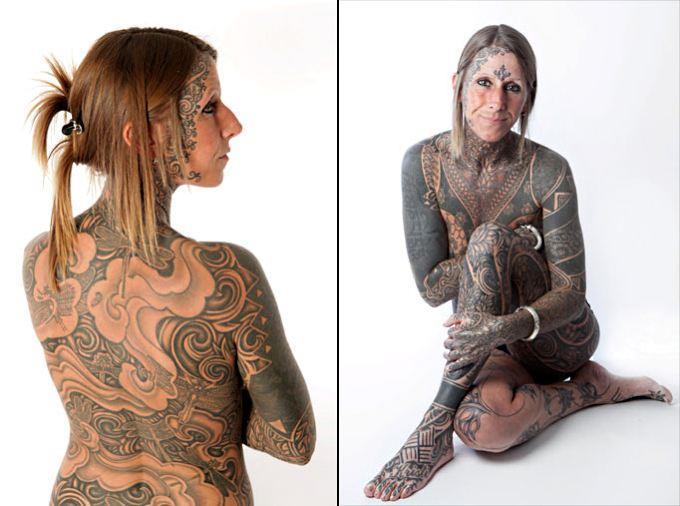 jacqui moore 3 41 летняя мать двоих детей отпраздновала свой развод с неверным мужем, забив 85% своего тела татуировками