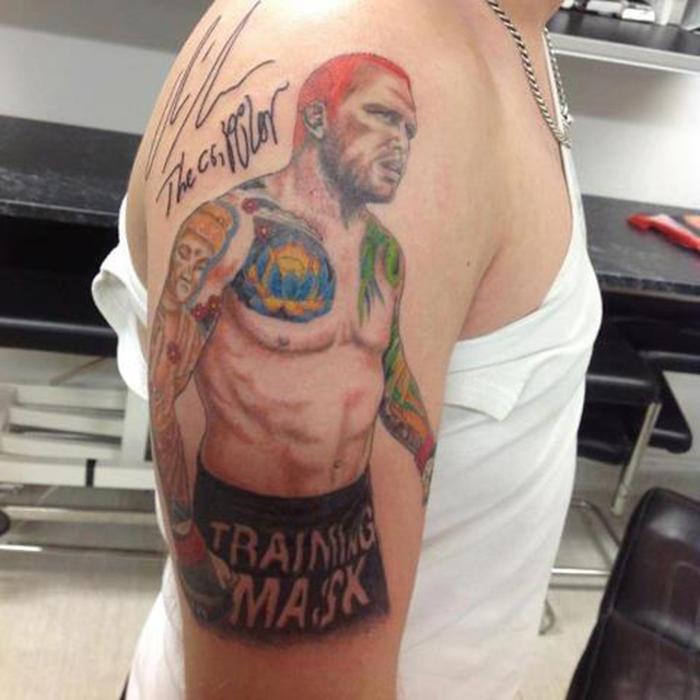 Крис Либен татуировка