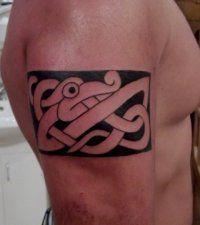 Эскиз тату Кельтский узор для мужчины на предплечье