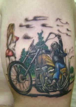Байкерская татуировка