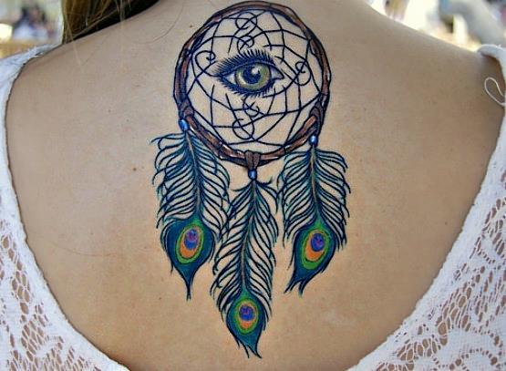 Татуировка ловец снов у девушек