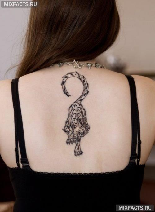 идеи тигра тату для девушек