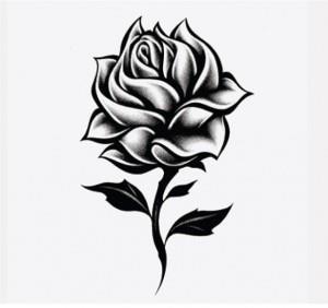 тату розы эскиз (6)