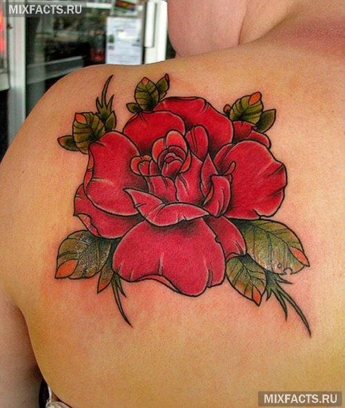 татуировка роза для девушек