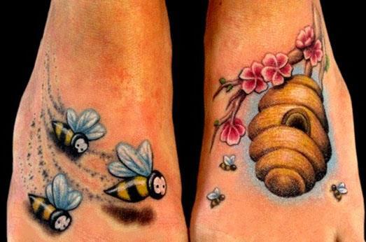 значение татуировки с пчелой