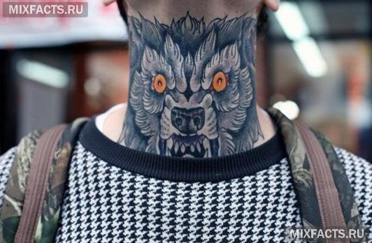 татуировка волка мужская