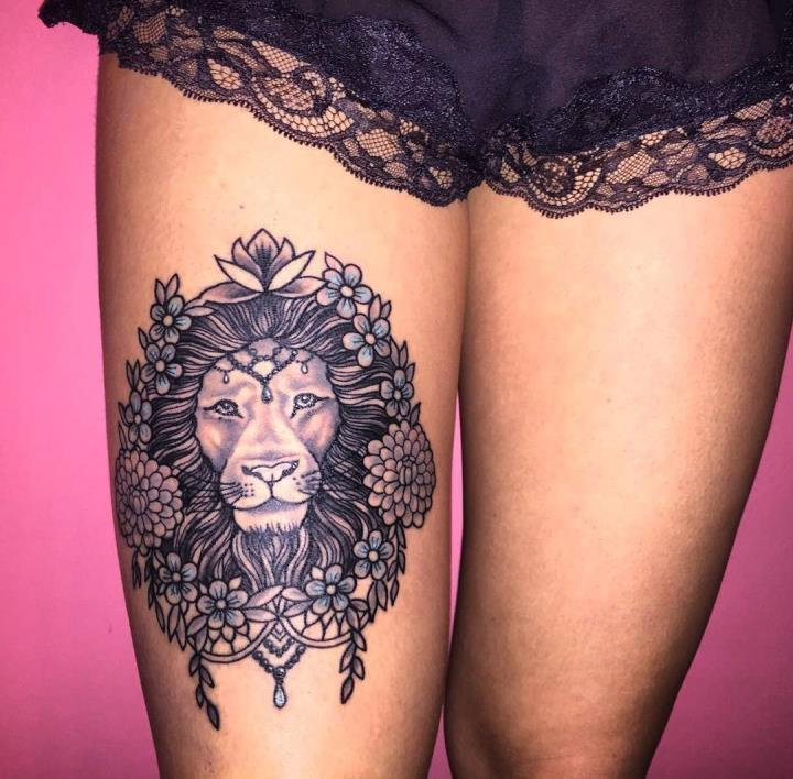Lion-Tattoo-For-Girls