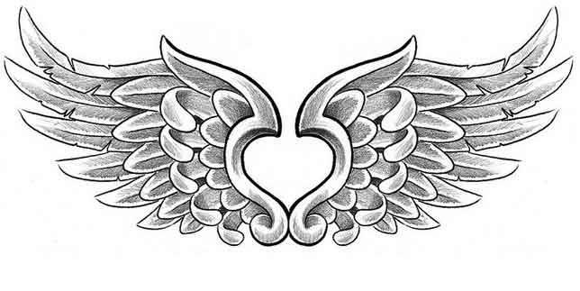 крылья ангела-тату на пояснице