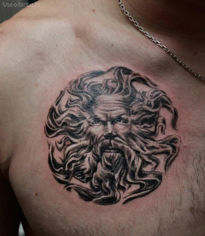 Славянская-татуировка-Перун-на-груди