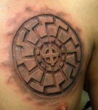 Эскиз мужской славянской татуировки на груди