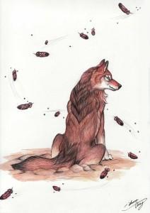 волк эскиз (5)
