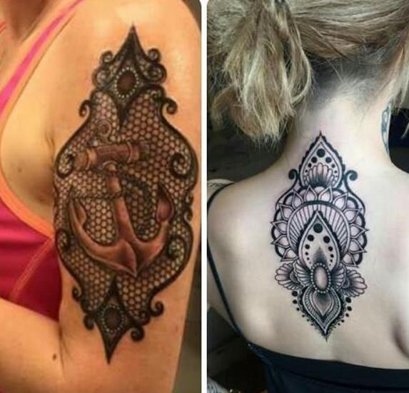 Сексуальные татуировки на девушках