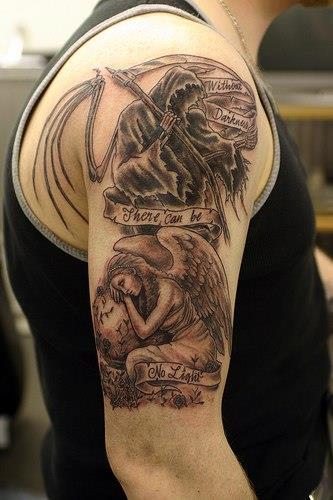 Татуировка смерть с косой у парней