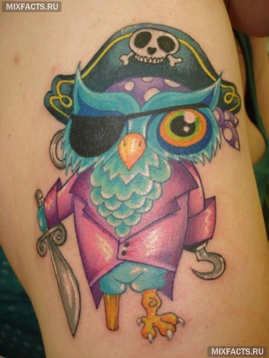 татуировка сова для девушек фото