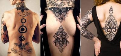 Татуировка абстракция у девушек