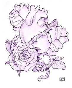 тату розы эскиз (5)