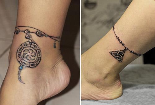 Татуировки на щиколотку в виде браслета