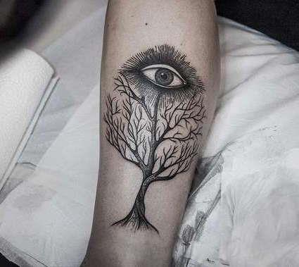 Дерево с глазом на вершине