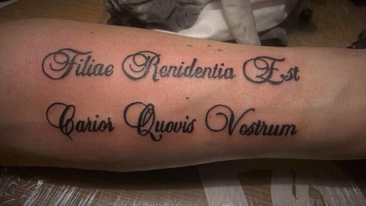 Татуировка в честь дочки