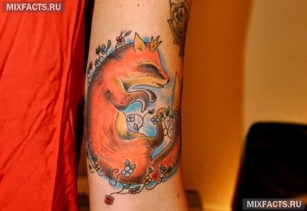 татуировка лисы