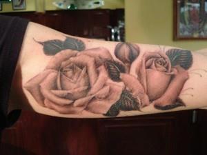 тату роза на руке (10)