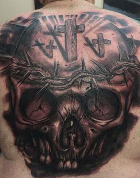 Череп с крестами